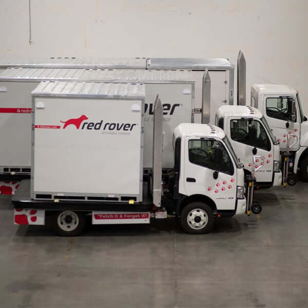 Red Rover truck and container